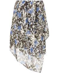 Christian Wijnants - Floral Asymmetric Skirt - Lyst