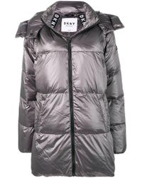 Donna Karan - Hooded Padded Coat - Lyst