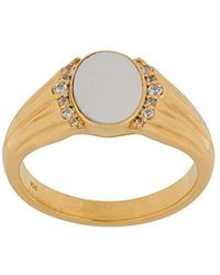 Astley Clarke - Mother Of Pearl Luna Signet Ring - Lyst