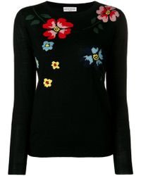 Sonia Rykiel - Embroidered Flower Jumper - Lyst