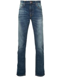 Nudie Jeans - Schmale Stone-Wash-Jeans - Lyst