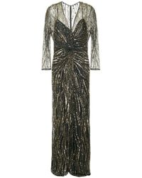 Jenny Packham - Sequin Embroidered Gown - Lyst
