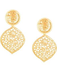 Kenneth Jay Lane - Filigree Drop Clip Earrings - Lyst