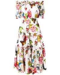 Dolce & Gabbana - Shirred Butterfly Dress - Lyst