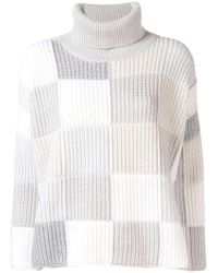 Cruciani - Checked Turtleneck Jumper - Lyst