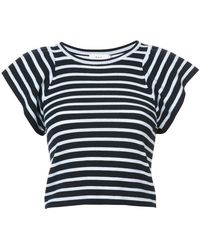 A.L.C. - Flutter Sleeve Striped Top - Lyst