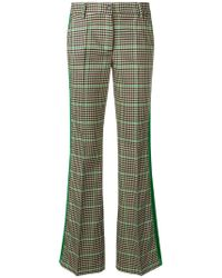 P.A.R.O.S.H. - Checked Flared Trousers - Lyst