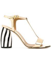 Marc Ellis - Striped Heel Sandals - Lyst