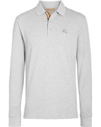 Burberry - Long-sleeve Cotton Piqué Polo Shirt - Lyst