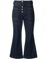 Carven - High-waist Cropped Jeans - Lyst