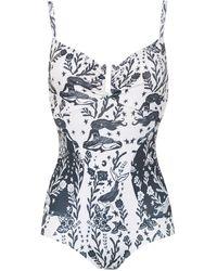 Martha Medeiros - Printed Swimsuit - Lyst