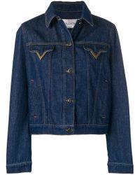 Valentino - V Hardware Denim Jacket - Lyst