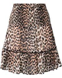 7500b91adae0 Ganni Floral Print A-line Skirt in Black - Lyst