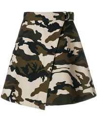 House of Holland - Camouflage Wrap Skirt - Lyst