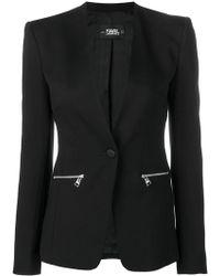 Karl Lagerfeld - Blazer à logo - Lyst