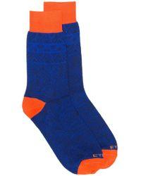 Etro - Paisley Print Socks - Lyst