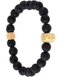 Northskull - Beaded Skull Bracelet - Lyst
