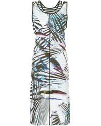 Marc Cain - Printed Shift Midi Dress - Lyst