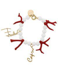 Emilio Pucci - Beaded Charm Bracelet - Lyst