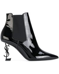 Saint Laurent | Opyum 85 Ankle Boots | Lyst