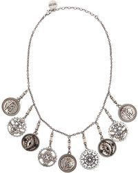 Roberto Cavalli - Coin Charm Necklace - Lyst