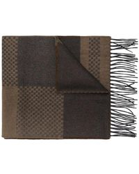 Canali - Check Scarf - Lyst