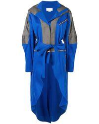 Esteban Cortazar - Zipped Belted Raincoat - Lyst