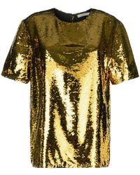 Amen - Sequin Short Sleeve Blouse - Lyst