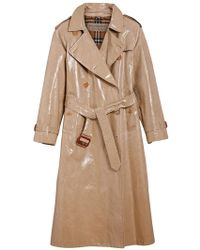 Burberry - Raglan-sleeve Laminated Gabardine Trench Coat - Lyst
