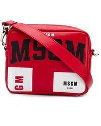 MSGM - Logo Crossbody Bag - Lyst