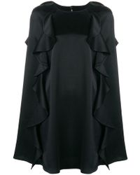 Valentino - Frilled Cape Dress - Lyst