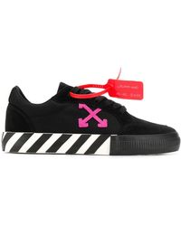 Off-White c/o Virgil Abloh Sneakers Met Logo Patch - Zwart