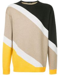 Guild Prime - Striped Colour-block Sweater - Lyst