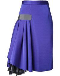 Kolor - Ruffle Detail Skirt - Lyst