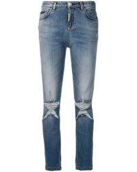Philipp Plein - Distressed Skinny Jeans - Lyst