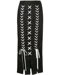 G.v.g.v - Lace-up Midi Skirt - Lyst