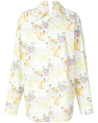 Marni - Oversized Floral Shirt - Lyst