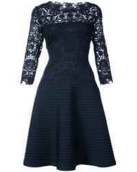 Tadashi Shoji - Lace Embroidered Flared Dress - Lyst