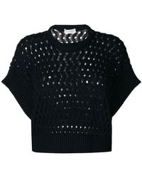 Zanone - Perforated Jumper - Lyst