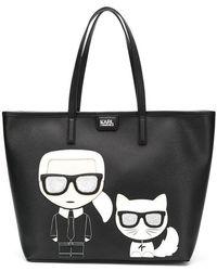 Karl Lagerfeld - Bolso shopper K/Ikonik - Lyst