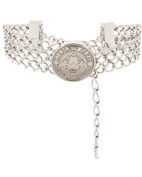 Balmain - Embossed Medallion Choker - Lyst