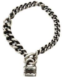 Werkstatt:münchen - Werkstatt:münchen Padlock Chain Bracelet - Lyst