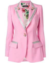 Dolce & Gabbana - Single-breasted Rose Blazer - Lyst