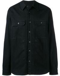 Rick Owens Drkshdw Black Shirt Jacket