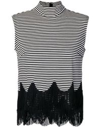 Marc Jacobs - Sleeveless Striped Fringe Top - Lyst