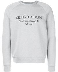 Giorgio Armani - Designer Address Sweatshirt - Lyst