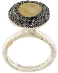 Rosa Maria - Rutilated Yellow Quartz And Diamond Ring - Lyst
