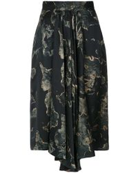 Andrea Marques - Printed Ruffle Skirt - Lyst