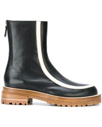 Marni | Striped Ankle Boots | Lyst
