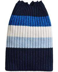 Burberry - Cashmere Striped Beanie - Lyst
